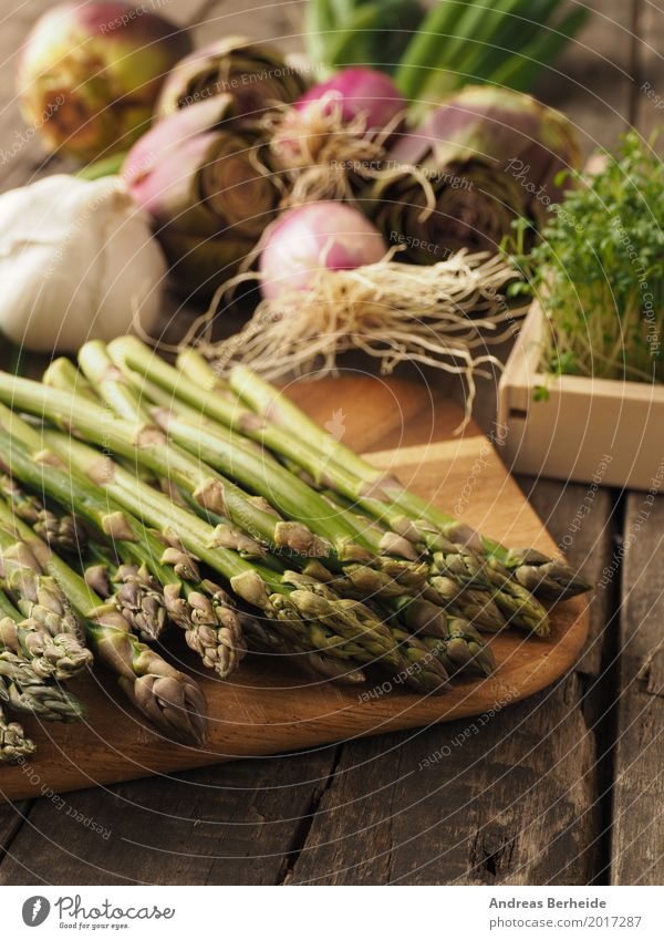 Green asparagus Vegetable Organic produce Vegetarian diet Jump Healthy Delicious agriculture artichoke Asparagus color cress flower food fresh garlic Gourmet
