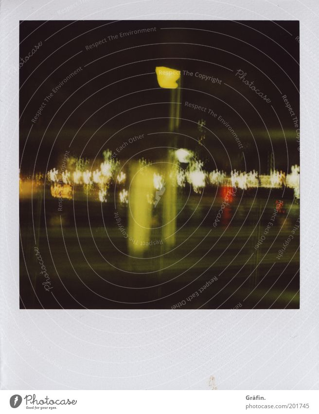 Green Yellow Dark Movement Glittering Illuminate Harbour Analog Sightseeing Polaroid Night life Point of light To swing Port City Stagger Pontoon