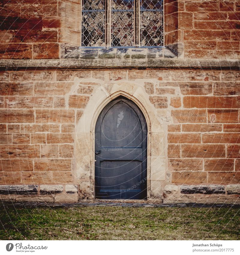 Winter Religion and faith Wall (building) Meadow Wall (barrier) Stone Facade Door Church Historic Old town Entrance Jubilee Protestantism Monastery House of worship