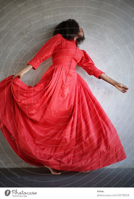 Human being Woman Beautiful Adults Life Movement Feminine Hair and hairstyles Contentment Esthetic Creativity Dance Joie de vivre (Vitality) To hold on Dress