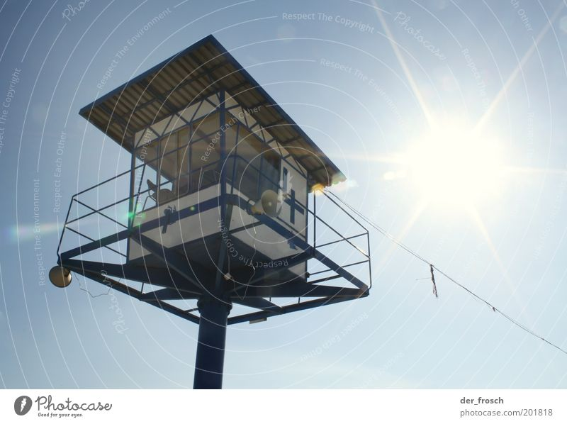 Place in the sun Vacation & Travel Summer Sky Hunting Blind Observe Looking Safety Protection Responsibility Attentive Watchfulness Colour photo Exterior shot