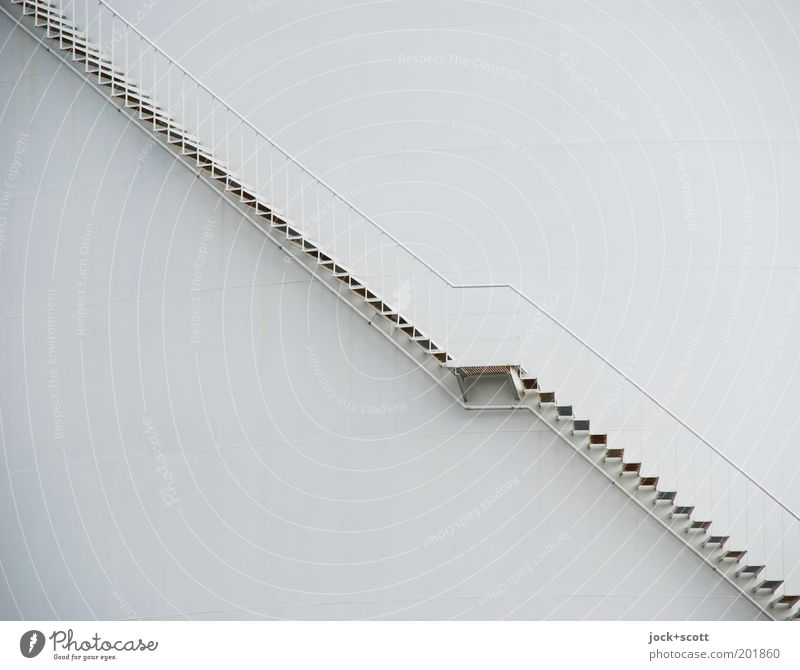 up and down Industry Energy industry Industrial plant Metal steps Steel Line Sharp-edged Simple Long Modern Gray Moody Safety Orderliness Arrangement