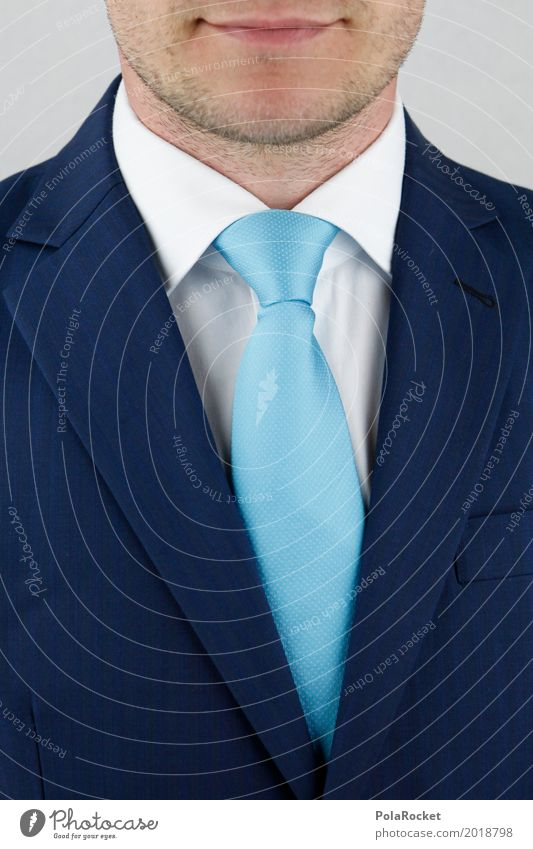 #A# Business First Art Work of art Esthetic Tie Tie knot Bank employee Bank clerk Adviser Reliability Suit Blue Facial hair Man Masculine Shirt collar