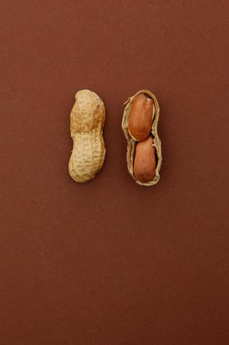 #A# 2x2=4 Art Esthetic Nut Nutshell Nut brown Fruit seed head Peanut Peanut harvest Division Brown Delicious Snack Colour photo Subdued colour Multicoloured