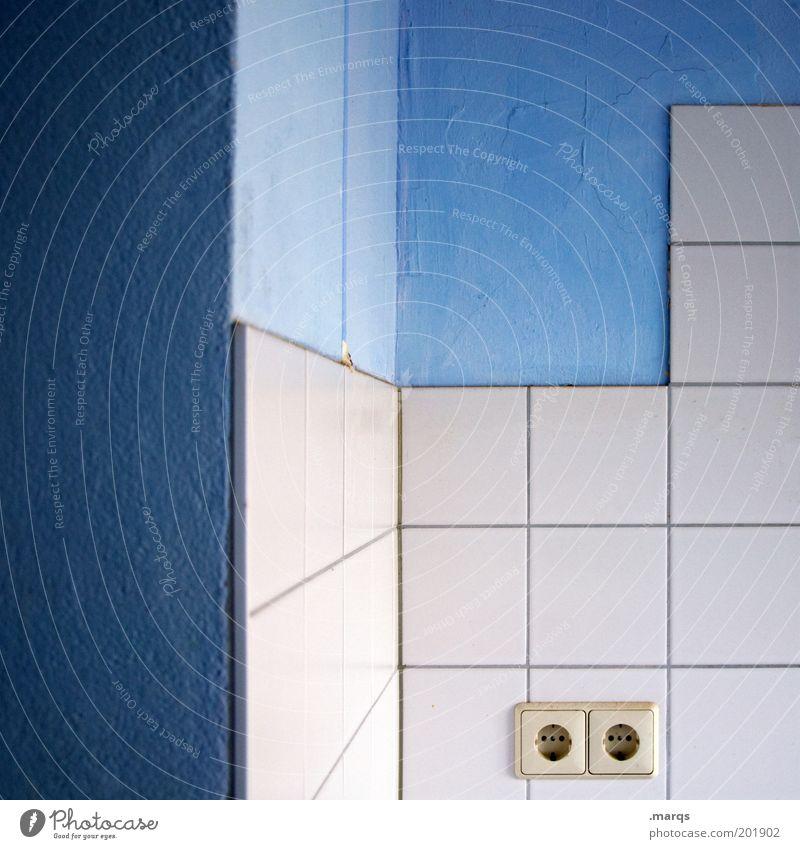 White Blue Colour Line Flat (apartment) Design Lifestyle Perspective Energy industry Corner Bathroom Kitchen Clean Living or residing Interior design Tile