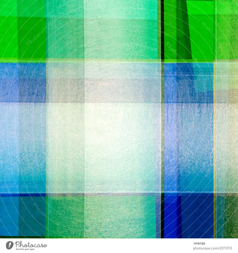 chequered Style Design Art Line Blue Green Chaos Colour Whimsical Mixed Checkered Double exposure Colour photo Detail Abstract Pattern Structures and shapes