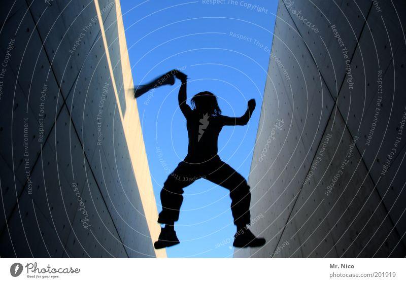 aviator Masculine Body Arm Legs Joy Enthusiasm Euphoria Movement Joie de vivre (Vitality) Jump Dynamics Freedom Funsport Flying Sky Crazy Self portrait Hop