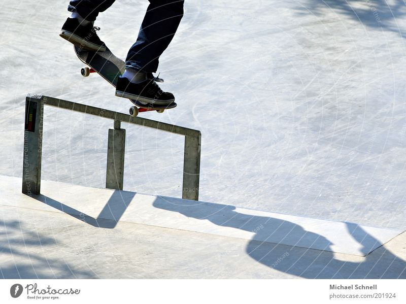 Human being Youth (Young adults) Young man Feet Leisure and hobbies Handrail Athletic Skateboarding Sports Skater circuit