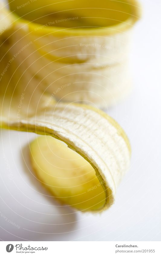 White Nutrition Yellow Food Gold Fruit Fresh Authentic Trash Vitamin Coil Sheath Banana Macro (Extreme close-up)