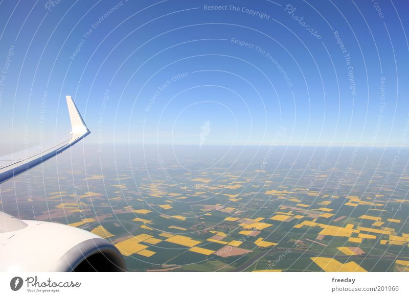Sky Blue Vacation & Travel Window Airplane Flying Horizon Aviation Vantage point Travel photography Wing Work and employment Height Private Engines Impulsion