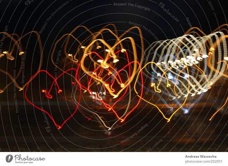 White Red Yellow Colour Art Heart Design Illuminate Sign Sincere Blur Experimental Spirited With love Light painting