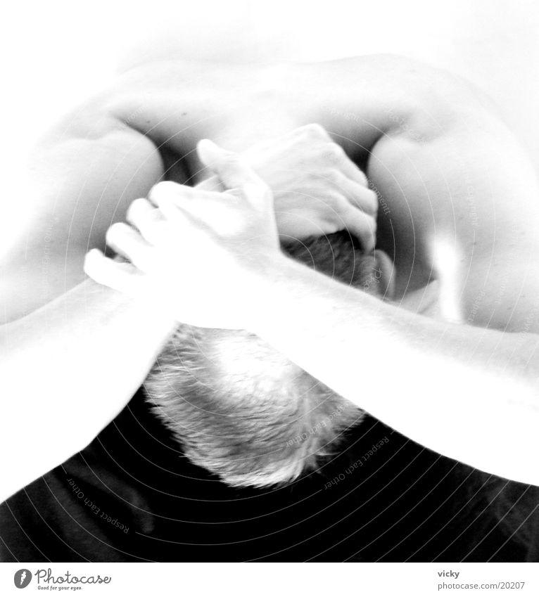Man Back Hide Black & white photo