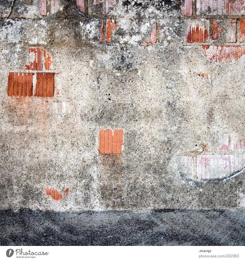 Wall (building) Wall (barrier) Building Facade Broken Construction site Brick Decline Manmade structures Redecorate Plaster Copy Space Economy House building