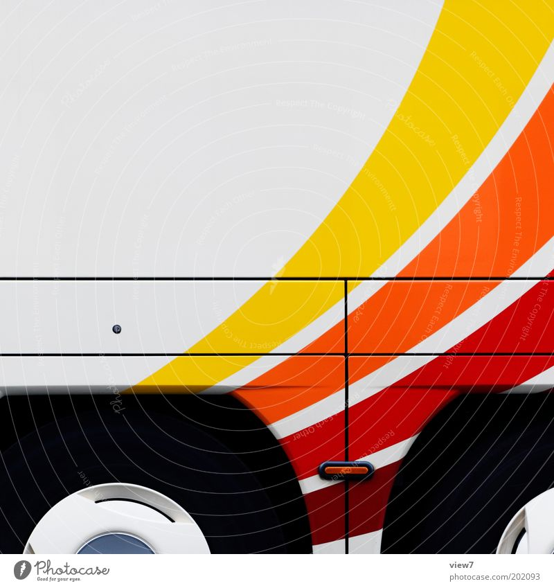 White Vacation & Travel Line Power Metal Design Large Modern New Decoration Stripe Services Wheel Mobility Bus Tire