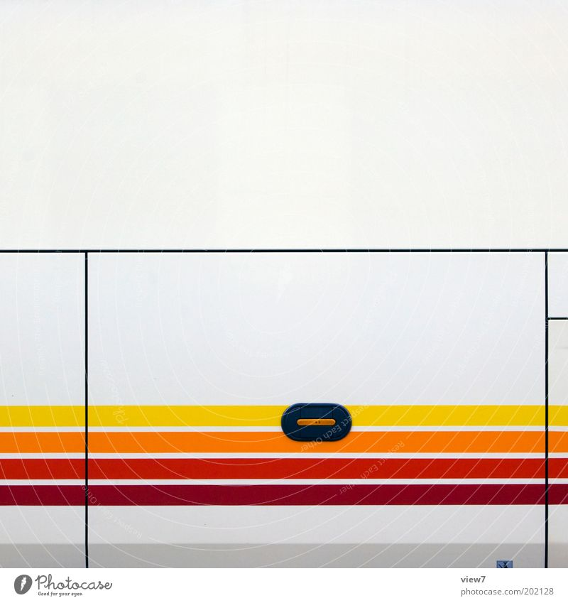 Red Vacation & Travel Yellow Colour Line Metal Design Transport Modern Arrangement Esthetic New Retro Authentic Simple Thin