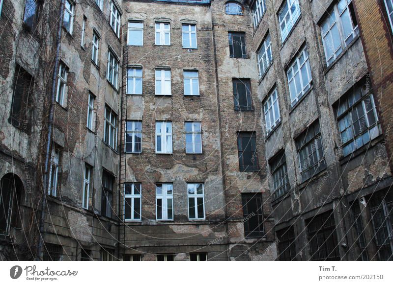 City House (Residential Structure) Berlin Window Stone Building Architecture Facade Factory Authentic Decline Manmade structures Backyard Industrial plant