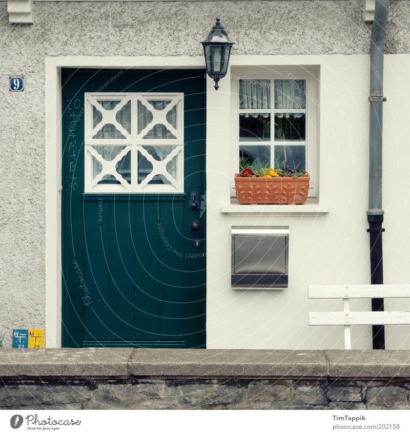 In Wonderland #4 Facade Window Door Mailbox Eaves Arrangement Petit bourgeois Flat (apartment) Jinxed Fairy tale Home country German Entrance Front door Lantern