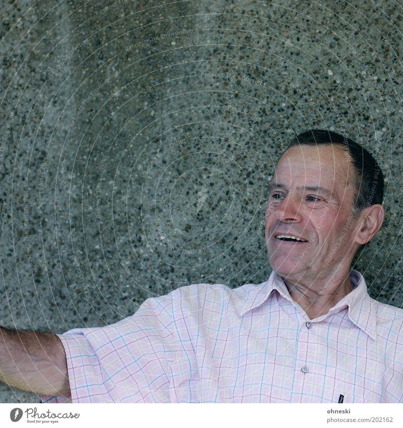 joy Masculine Male senior Man Senior citizen Life Laughter Happy Happiness Contentment Joie de vivre (Vitality) Central perspective Portrait photograph