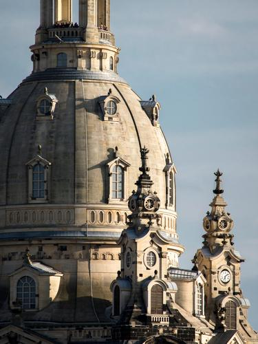Visitors on top Elegant Beautiful Tourism Trip Sightseeing City trip Dream house Camera Human being Crowd of people Architecture Culture Choir Dresden Saxony