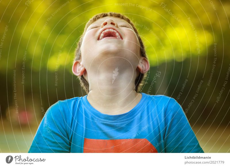 laugh Joy Children's room Human being Masculine Boy (child) Brother Infancy Life Teeth 1 8 - 13 years Nature Summer Laughter Blonde Happiness Happy Infinity