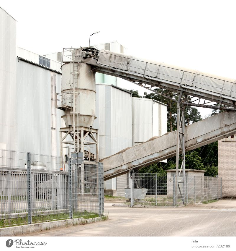 concrete plant Workplace Factory Industry Company Industrial plant Manmade structures Building Works Industrial Photography Silo Gravel plant Colour photo