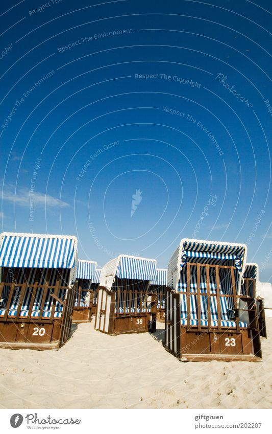 Sky Ocean Blue Summer Beach Vacation & Travel Relaxation Sand Coast Trip Closed Empty Island Tourism Stripe