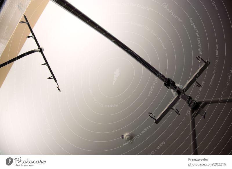 Ceiling Section of image Partially visible Rod Furniture Ceiling Framework Nursing Hospital bed Sick room Medical instrument