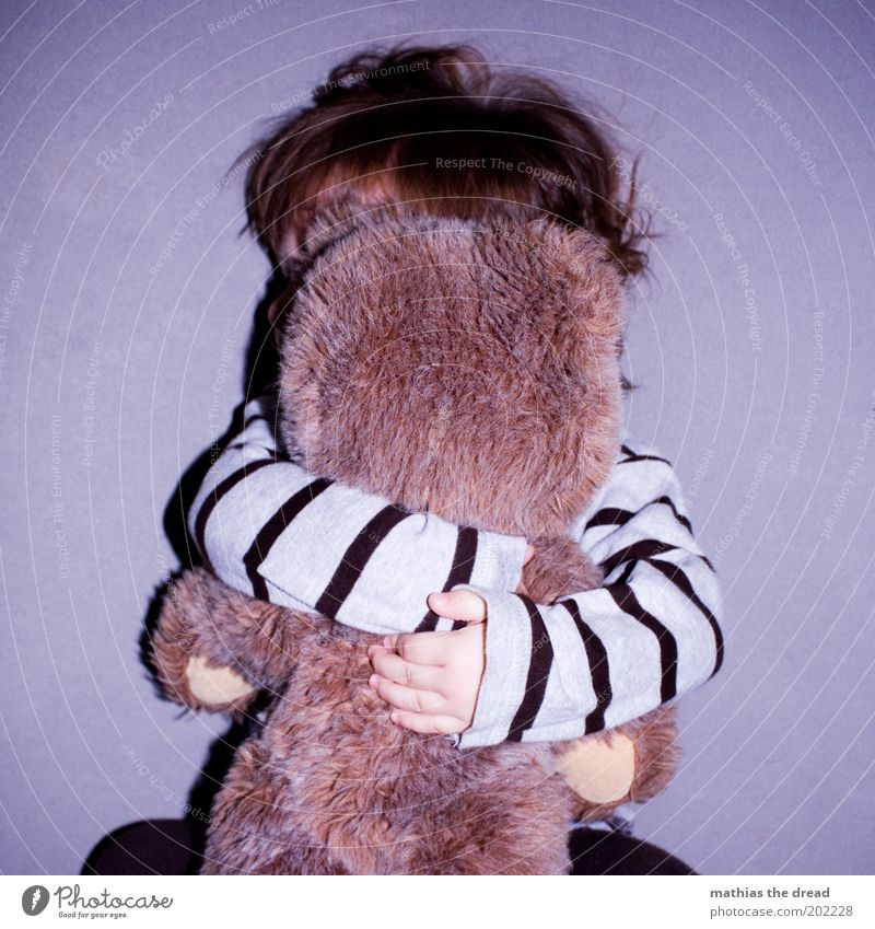 HAVE YOU LOVE Joy Happy Playing Human being Toddler Infancy 1 - 3 years Teddy bear Love Embrace Emotions Contentment Safety Safety (feeling of) Peaceful Stripe