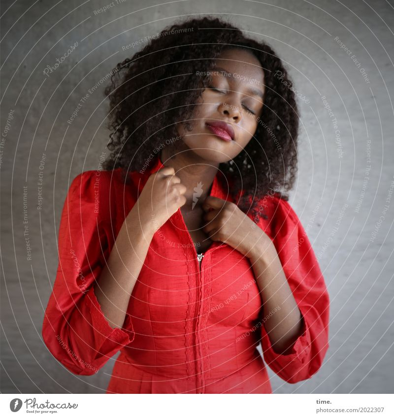 Human being Woman Beautiful Relaxation Calm Adults Warmth Life Wall (building) Feminine Wall (barrier) Time Hair and hairstyles Moody Dream Contentment
