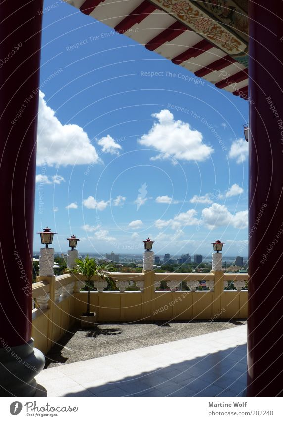 Taoist Temple View Vacation & Travel Trip Sightseeing Cebu City Philippines Asia Wall (barrier) Wall (building) Terrace Vantage point Sky Clouds Blue