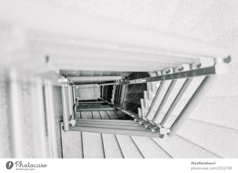 Geometry of staircase Town White Architecture Cold Building Business Stone Contentment Office Horizon Metal Stairs Growth Success Perspective Empty