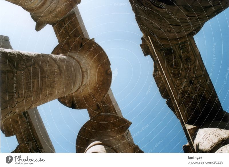 Contentment Column Egypt Temple Luxor Karnak Colonnades