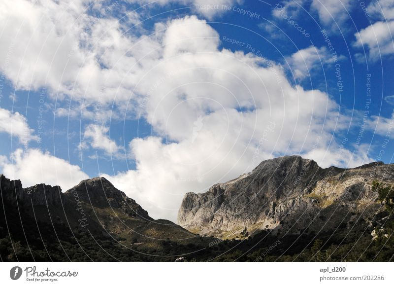 Nature Sky White Blue Clouds Mountain Spring Landscape Air Power Weather Environment Rock Authentic Climate Alps