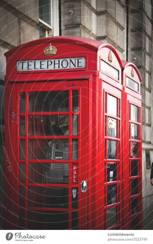 London Call Tourism Sightseeing City trip Office Call center To talk Telephone Telecommunications Culture England Downtown Deserted Wall (barrier)