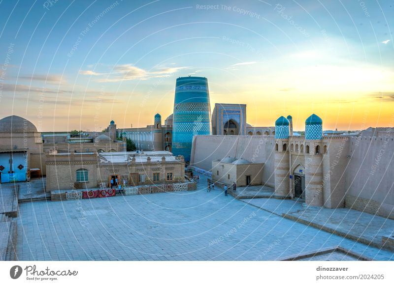 Khiva old town, Uzbekistan Old Town Colour Architecture Religion and faith Style Art Tourism Design Decoration Large Asia Old town Tradition Middle Geometry