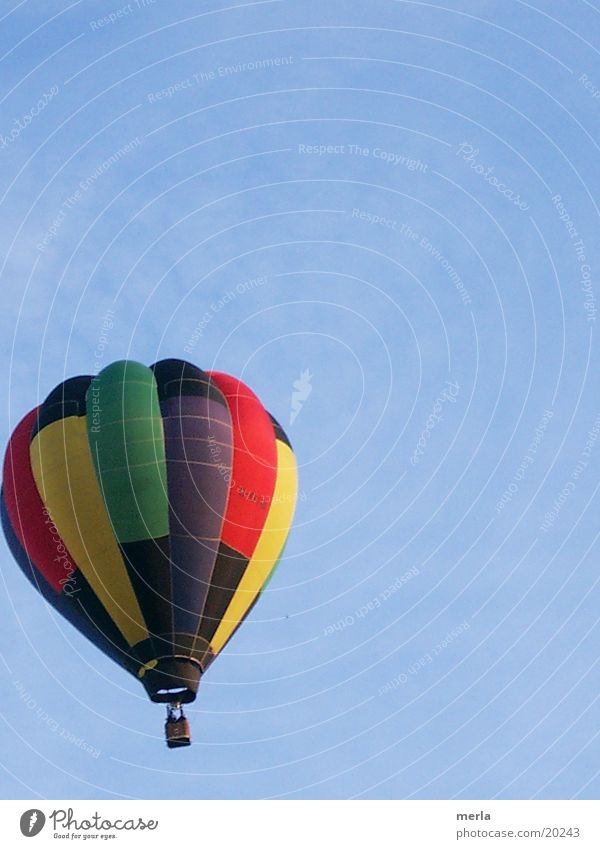 Colourful before sky blue Hot Air Balloon Dive Multicoloured Aviation Contrast