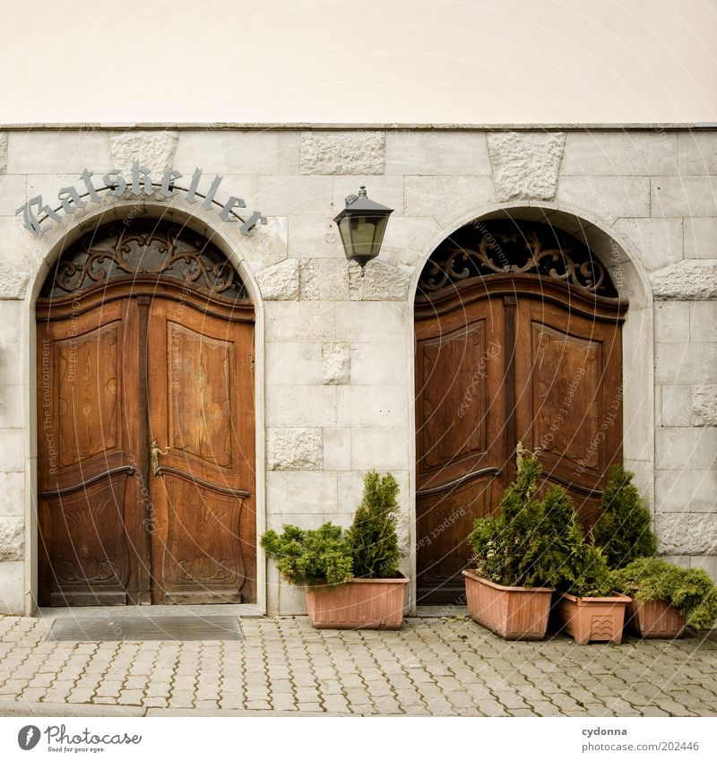 Calm Style Door Contentment Facade Closed Gastronomy Lantern Restaurant Well-being Entrance Dinner Nostalgia Lunch Munich Old town