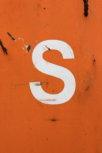 It has been there since 16 May 2010. Container Letters (alphabet) S Metal Orange White Characters Scratch mark Rust Colour photo Simple Considerable
