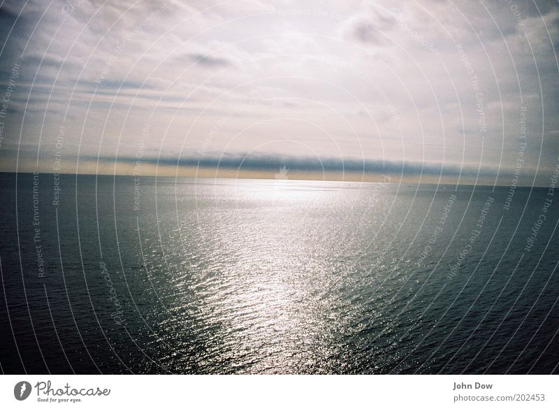 Nature Water Vacation & Travel Ocean Clouds Far-off places Freedom Horizon Glittering Longing Infinity Wanderlust Visual spectacle Refraction Surface of water