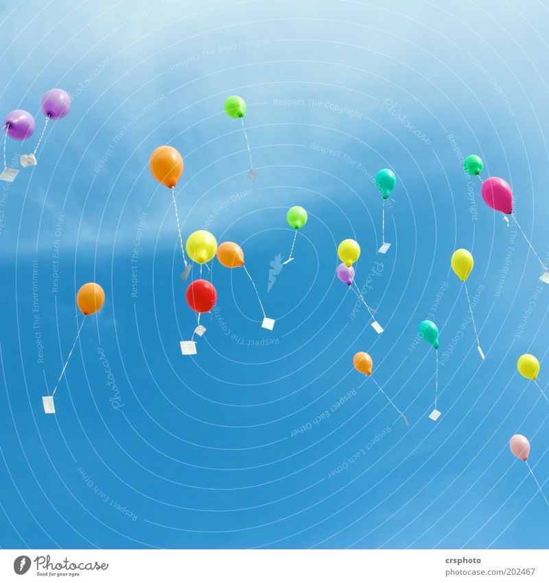 Sky Green Blue Red Summer Yellow Freedom Air Mail Flying Fresh Multiple Hope Balloon Information Infinity