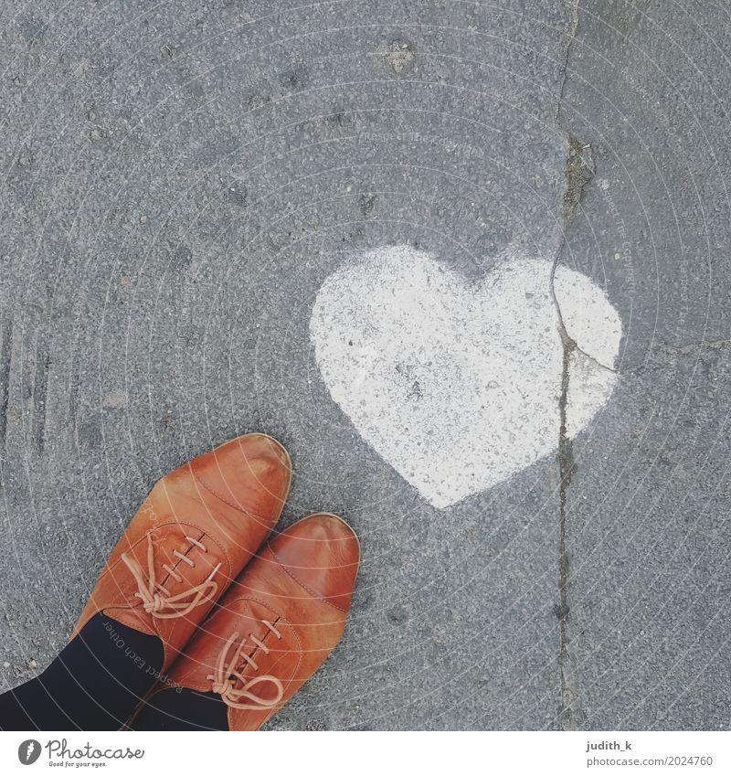 #streetlove Lifestyle Happy Flirt Street Lanes & trails Leather Footwear favorite shoes lazier Sign Graffiti Heart Rutting season Going Love Stand Kitsch Cute