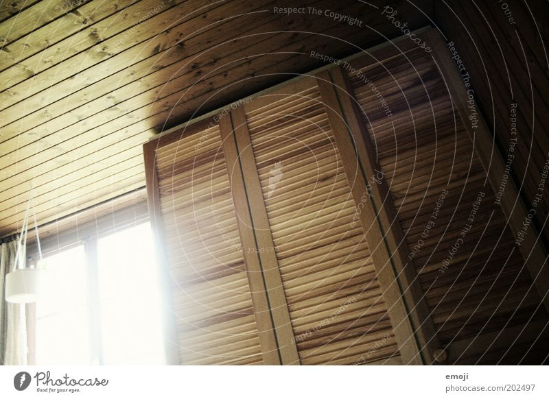 room Window Warmth Cupboard Ceiling Wood Wooden board Wooden wall Interior design Room Colour photo Interior shot Day Light Shadow Light (Natural Phenomenon)