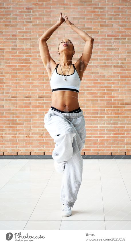 Human being Woman Beautiful Adults Life Wall (building) Healthy Movement Sports Feminine Wall (barrier) Esthetic Power Creativity Dance Fitness
