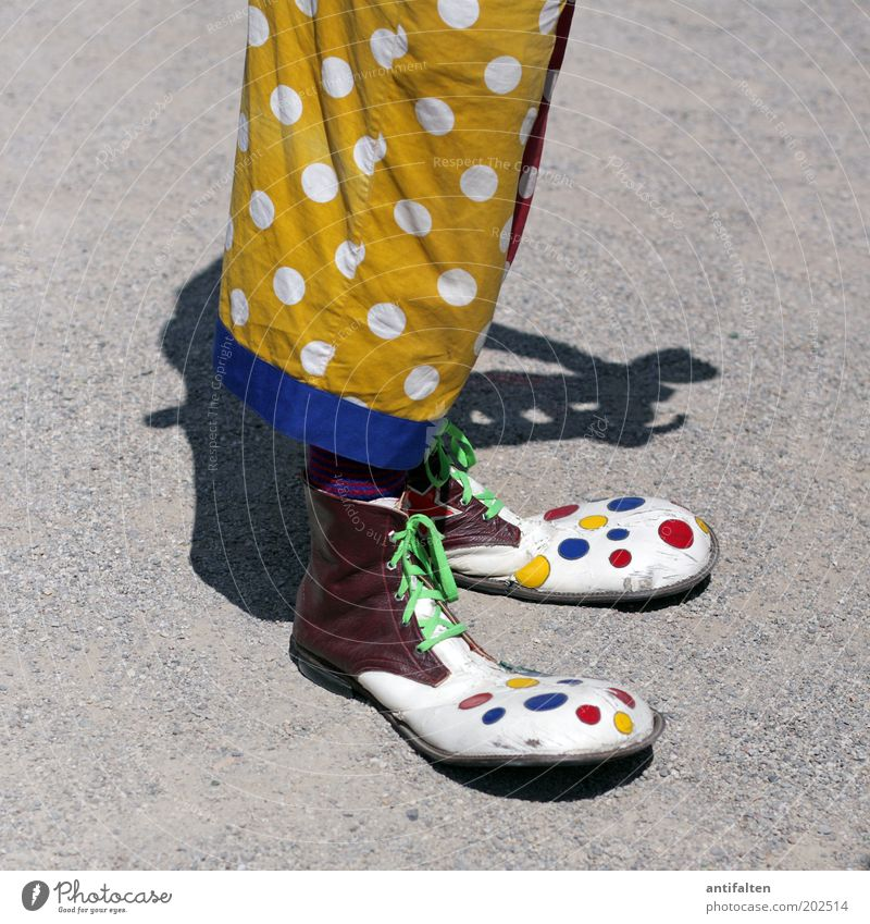 Human being Man Blue White Red Joy Adults Yellow Funny Legs Footwear Masculine Crazy Happiness Clothing