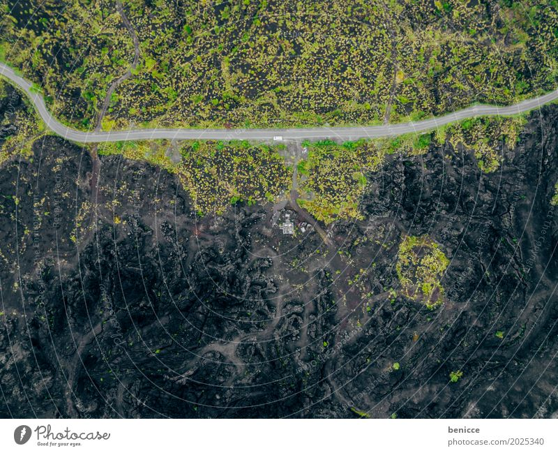 volcano Volcano ash Aerial photograph Bird's-eye view drone Black Earth Lava Lanes & trails Asia Nature Landscape Deserted Uninhabited Indonesia