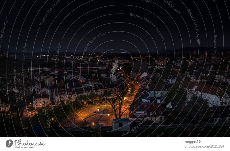 Kassel at night Sky Night sky Spring Summer Autumn Beautiful weather Germany Europe Town Downtown House (Residential Structure) Places Manmade structures