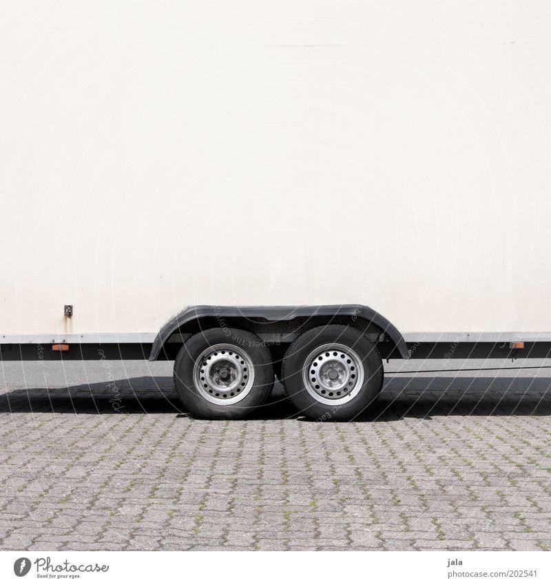 White Black Gray Wheel Tire Parking lot Trailer Transport