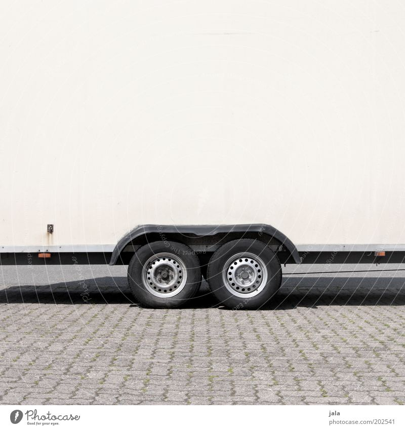 White Black Gray Wheel Tire Parking lot Trailer Transport