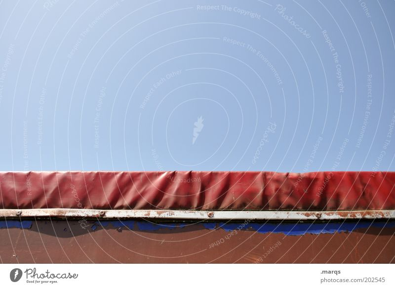Blue Red Metal Transport Logistics Truck Plastic Mobility Covers (Construction) Nature Cloudless sky