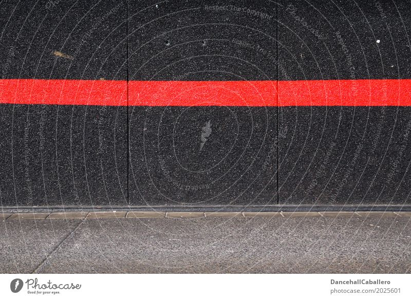 Red line on black wall Wall (barrier) Line Black Wall (building) Politics and state Border Lanes & trails Responsibility Taboo Sign Graffiti Stripe Gray
